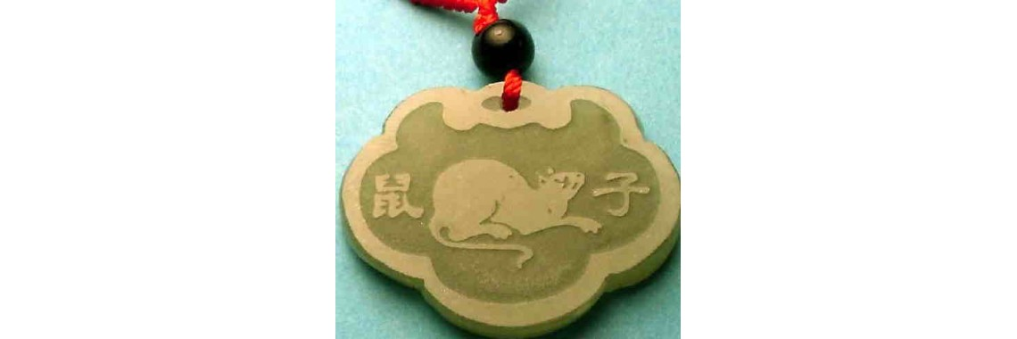 Rat Mouse Jade Pendant Necklaces Charms