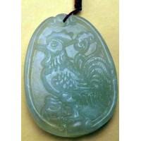 Rooster Large Jade Necklace