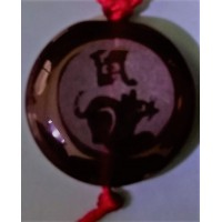 Rat Red Agate Round Necklace