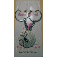 Yin-Yang Double Metal Bagua Charm Key Chain