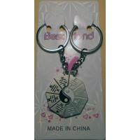 Yin-Yang Double Metal Bagua Charm Key Chain