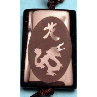 Dragon Black Agate Necklace