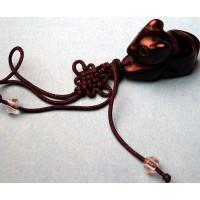 Black Jade Rat Charm Phone Strap