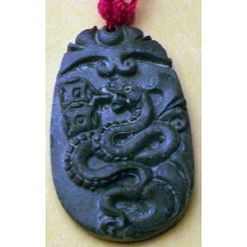 Black Jade Snake Necklace