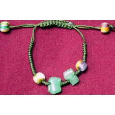 Suitable Rooster and Snake Jadeite Bracelet