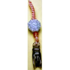 Buddha's Hand & Bagua Jadeite Phone Strap