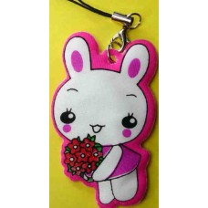 Tuzki Flower Rabbit Plastic Phone Strap