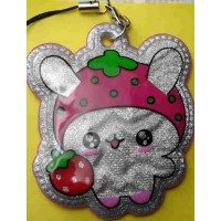 Tuzki Strawberry Rabbit Plastic Phone Strap