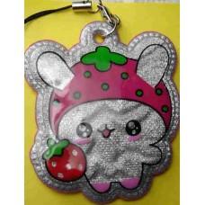 Tuzki Strawberry Rabbit Plastic Phone Strap