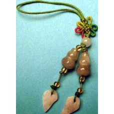 2 Treasure Gourds Jade Phone Strap
