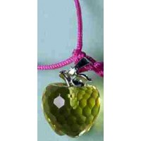 Yellow Crystal Apple Necklace