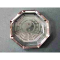 Fengshui Bagua Clear Crystal Symbol