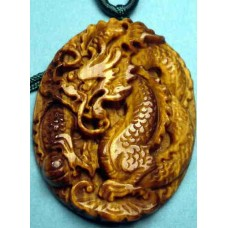 Dragon Golden Crystal Necklace