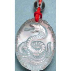 Crystal  Snake Oval Pendant