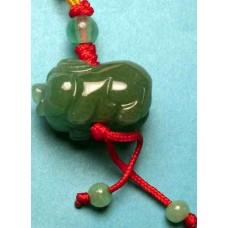 Pig Green Crystal Charm