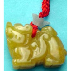 Qui Dragon Yellow Jade Charm