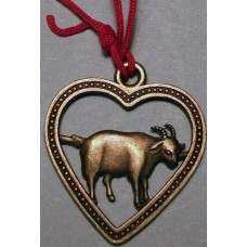 Goat Yellow Copper Charm
