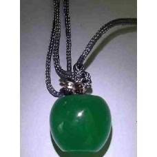 Green Crystal Apple Necklace