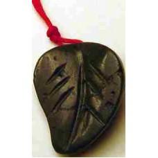 Black European Jade Leave Necklace