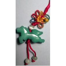 Horse Medium Green Jade Charm