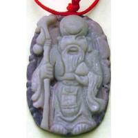 Purple Jade Longevity God Pendant