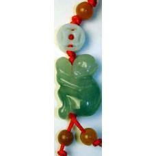 Jadeite Monkey Charm