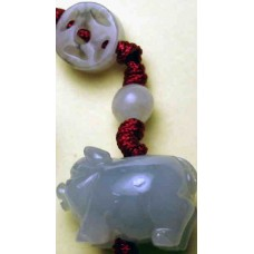 Jadeite Pig Charm