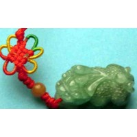 Pixiu Money Animal Green Jadeite Charm