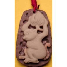 Monkey Purple Jade Necklace