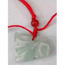 Qui Dragon Green Jade Necklace