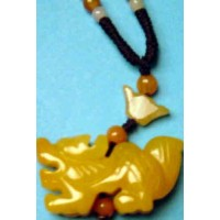 Dragon Yellow Jade Necklace