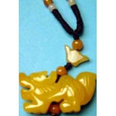Dragon Yellow Jade Necklace