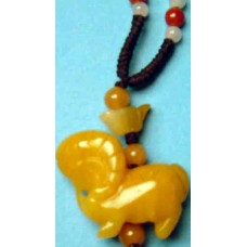 Goat Yellow Jade Charm