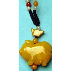 Pig Yellow Jade Charm