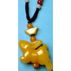 Rabbit Yellow Jade Necklace