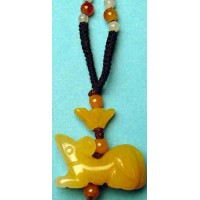 Rat Yellow Jade Necklace