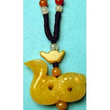 Snake Yellow Jade Necklace