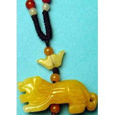 Tiger Yellow Jade Necklace