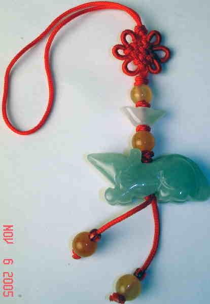 Rat Fengshui Zodiac Symbol Jade Charms